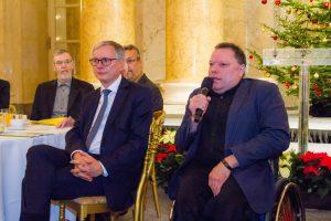 Präsident Herbert Pichler hält seine Weihnachtsrede