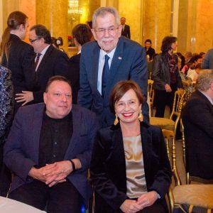 Bundespräsident Van der Bellen, seine Frau Doris und Herbert Pichler