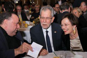 Präsident Herbert Pichler, Bundespräsident und seine Frau Doris
