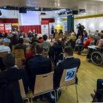 Foto von der Auftakt Veranstaltung des ZErtifikats FAIR FÜR ALLE mit 70 TeilnehmerInnen im Publikum
