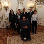 Gruppenbild Zarfl, Hofer, Präsidium, BP Van der Bellen und Frau Schmidauer
