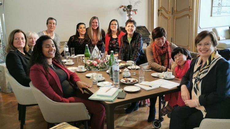 Gruppenfoto in der Präsidentschaftskanzlei