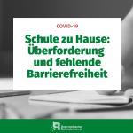 Schule zu Hause: Überforderung und fehlende Barrierefreiheit