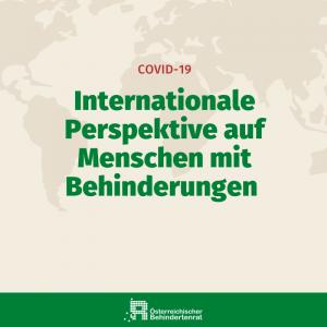 Internationale Perspektive auf Menschen mit Behinderungen. Covid-19