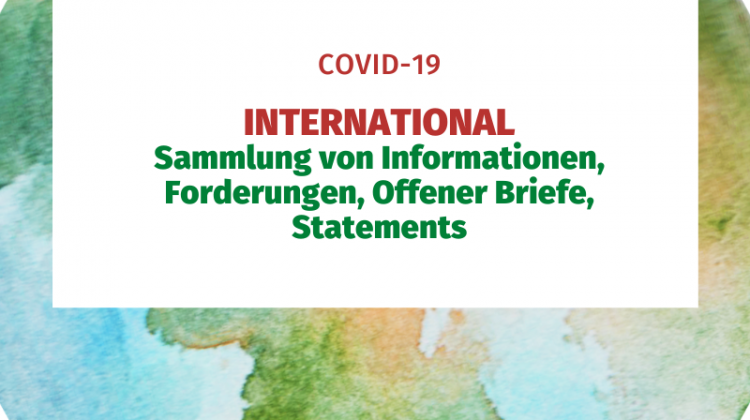 International Sammlung von Informationen, Forderungen, Offener Brief, Statements