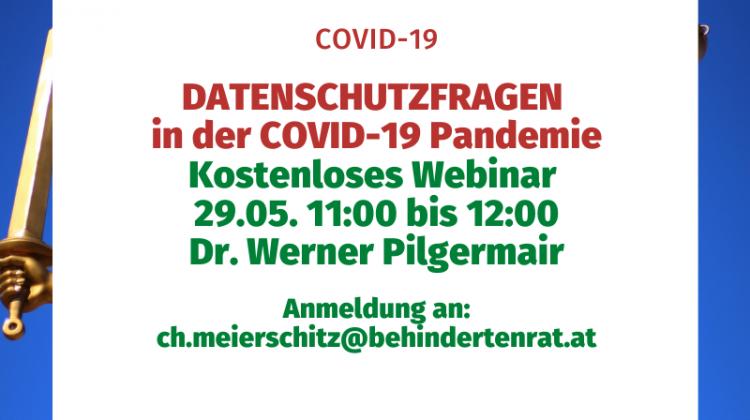 Datenschutzfragen in der COVID-19 Pandemie