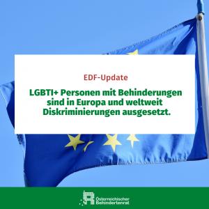 LGBTI+ Personen mit Behinderungen sind in Europa und weltweit Diskriminierungen ausgesetzt