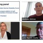 Zoom Konferenz des EDF und der Lebenshilfe